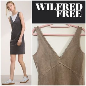 Wilfred Free Jones Faux Suede Dress in Camel